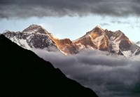 Nepal, Sagarmatha NP, Mt Everest, Lotse and Nuptse Fine-Art Print