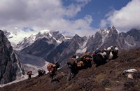 Yak Drivers Above the Kangshung, Tibet Fine-Art Print