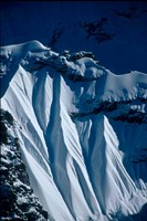 Close-up of Glacier at Chomolonzo, Tibet Fine-Art Print
