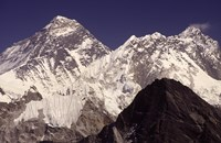 Mt. Everest seen from Gokyo Valley, Sagarnatha National Park, Nepal. Fine-Art Print