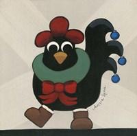 Merry Clucking Christmas Fine-Art Print