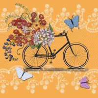 Flower Market Bicycle Fine-Art Print