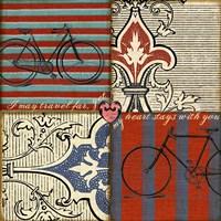 Bicycle Damask Fine-Art Print
