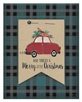 Merry Little Christmas Plaid Fine-Art Print