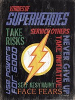 Virtues of Superheroes I Fine-Art Print