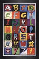Superhero Alphabet Fine-Art Print