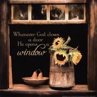 God Opens Windows Fine-Art Print