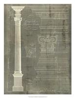 Column Blueprint I Fine-Art Print