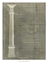 Column Blueprint II Fine-Art Print