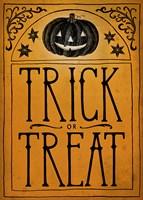Vintage Halloween Trick or Treat Fine-Art Print