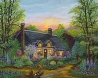 Sunset Cottage Fine-Art Print
