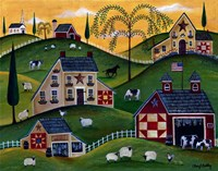 American Organic Herb  Sheep Cow Farmland Fine-Art Print