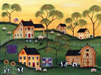 American Sunshine Country Farm Fine-Art Print