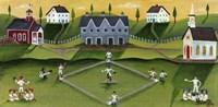 Baseball Game School Church Village Fine-Art Print