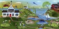 Golf Club Folk Art Fine-Art Print