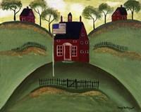Red School House Barn Fine-Art Print