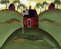 Red School House Barn Fine-Art Print