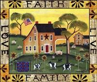Faith Family Live Love Lang Fine-Art Print