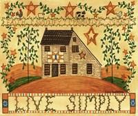 Live Simply Folk Art Fine-Art Print