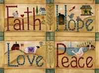 Faith Love Hope Peace Fine-Art Print