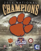 Clemson Tigers 2016 National Champions Team Logo Fine-Art Print