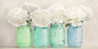 Peonies in Mason Jars (detail) Fine-Art Print