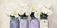 Tulips in Mason Jars (detail) Fine-Art Print