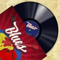 Vinyl Club, Blues Fine-Art Print