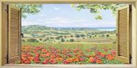 Finestra su Campo di Papaveri Fine-Art Print
