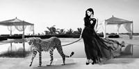 Woman with Cheetah Fine-Art Print