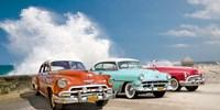 Cars in Avenida de Maceo, Havana, Cuba Fine-Art Print