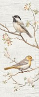 Vintage Birds Panel II Fine-Art Print
