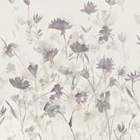 Garden Shadows III Purple Grey Fine-Art Print