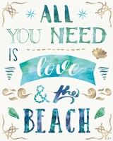 Love and the Beach I Fine-Art Print