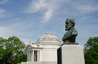 Mississippi, Vicksburg, Bust of Brigadier General John E Smith Fine-Art Print