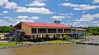 Local Restaurant in Columbus, Tombigbee Waterway, Mississippi Fine-Art Print