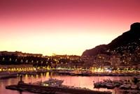 Harbor at Sunset, Monte Carlo, Cote D'Azure, Monaco Fine-Art Print