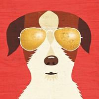 Beach Bums Terrier I Fine-Art Print