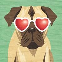 Beach Bums Pug I Fine-Art Print