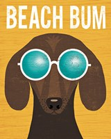 Beach Bums Dachshund I Bum Fine-Art Print