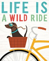 Beach Bums Dachshund Bicycle I Life Fine-Art Print