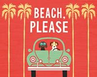 Beach Bums Beetle I Fine-Art Print
