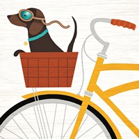 Beach Bums Dachshund Bicycle I Fine-Art Print