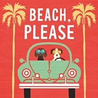 Beach Bums Beetle I Square Fine-Art Print
