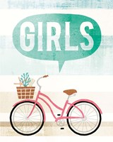 Beach Cruiser Girls II Fine-Art Print