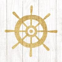 Beachscape VI Helm Gold Neutral Fine-Art Print