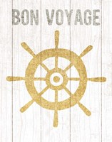 Beachscape VI Helm Quote Gold Neutral Fine-Art Print