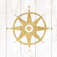 Beachscape IV Compass Gold Neutral Fine-Art Print