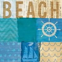 Beachscape Collage IV Fine-Art Print