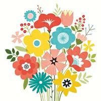 Seaside Bouquet IV Fine-Art Print